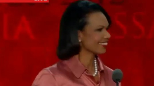 Condoleeza Rice at the RNC