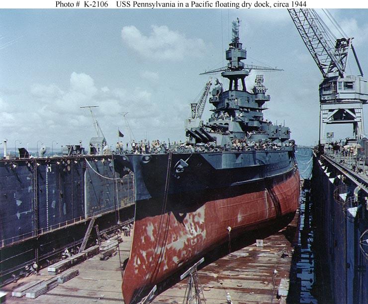 In drydock, 1944
