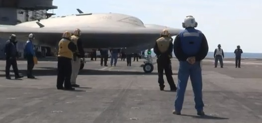 Navy Launches Drone Off Carrier