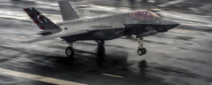 F-35C Lands on the USS Dwight D. Eisenhower