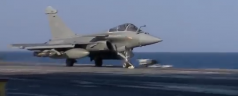 French Fighters Launch from the De Gaulle to Attack ISIS