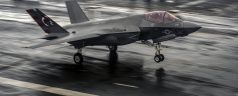F-35C Lands on the USS Dwight D. Eisenhower