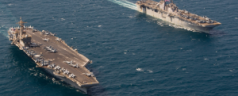 The Essex (LHD 2) and the Theodore Roosevelt (CVN 71) in Arabian Gulf